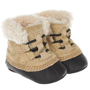 Ботинки зимние детские  Caribootie curry Black Sorel. Цвет: бежевый