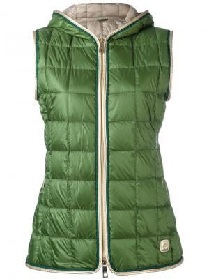 Padded vest Fay. Цвет: зелёный