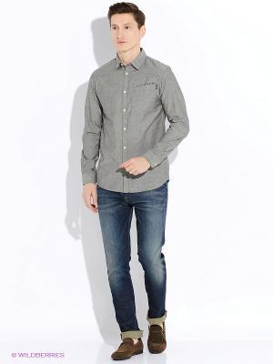 Рубашка Jack&Jones. Цвет: серый