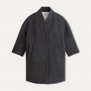 Пальто длинное POMANDERE. Цвет: серый