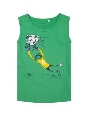 Майка спортивная Endo. Цвет: зеленый