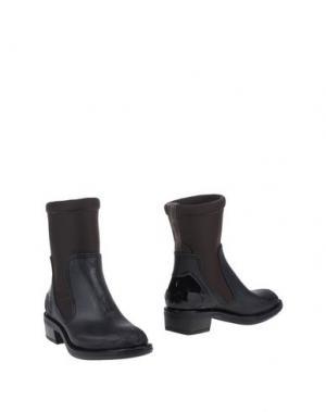 Полусапоги и высокие ботинки ISHU+. Цвет: темно-коричневый