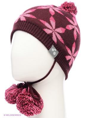 Вязаная шапка HUPPA. Цвет: бордовый