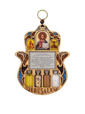 Триптих  - Благословение бизнеса Holy Land Collections. Цвет: бежевый