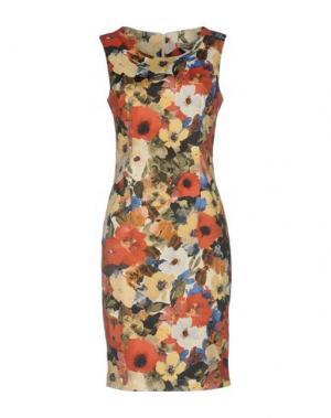 Короткое платье PAOLO CASALINI. Цвет: желтый