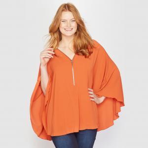 Блузка в форме накидки TAILLISSIME. Цвет: оранжевый