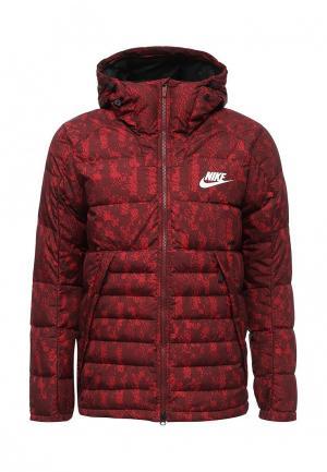 Пуховик Nike. Цвет: красный
