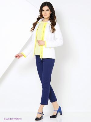 Куртка Lanicka. Цвет: белый, желтый