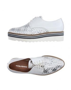 Обувь на шнурках ANGELA GEORGE. Цвет: белый