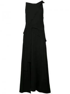 Длинно платье с поясом Proenza Schouler. Цвет: чёрный