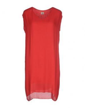 Короткое платье SIYU. Цвет: красный