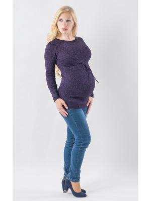 Джемпер для беременных Метанит Мирося. Цвет: темно-фиолетовый