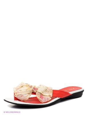 Пантолеты Felina shoes. Цвет: красный, желтый