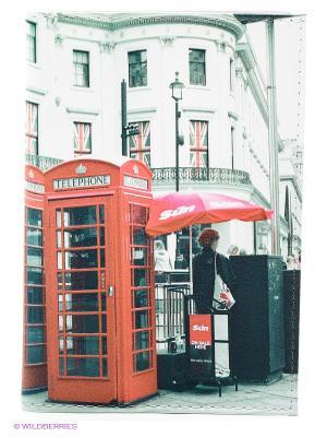 Обложка для автодокументов Лондонские будки Mitya Veselkov. Цвет: зеленый, оранжевый