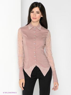 Блузка SUGARLIFE. Цвет: бледно-розовый
