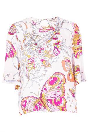 Блуза Emilio Pucci. Цвет: белый