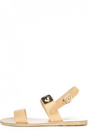 Кожаные сандалии Dinami Ancient Greek Sandals. Цвет: бежевый
