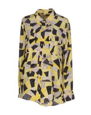 Pубашка EQUIPMENT FEMME. Цвет: желтый