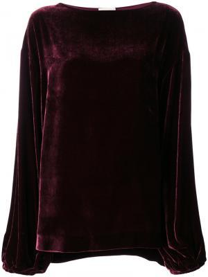 Классическая блузка шифт Mantu. Цвет: розовый и фиолетовый