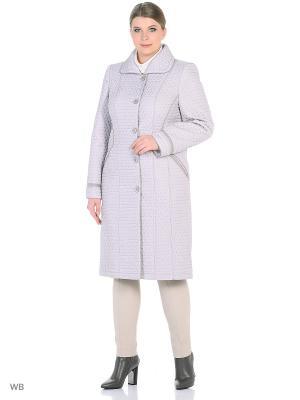 Утепленное пальто MONTSERRAT. Цвет: серый, светло-серый