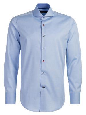Рубашка Angelo Bonetti. Цвет: голубой