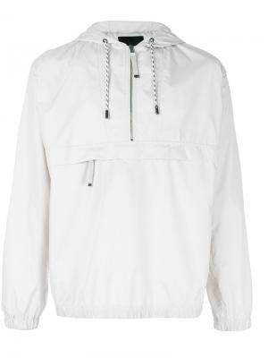 Куртка-ветровка с капюшоном Diesel Black Gold. Цвет: серый