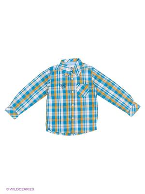 Рубашка Cherubino. Цвет: зеленый