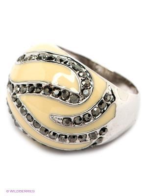 Кольцо Krikos. Цвет: серебристый, кремовый, серый