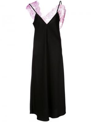 Платье с кружевной вставкой Ellery. Цвет: чёрный