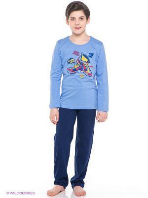 Комплект одежды Vienetta Secret. Цвет: темно-синий, голубой