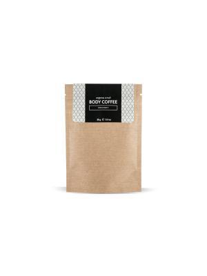Аргановый скраб кофе Huilargan кокос 30 гр. Цвет: желтый