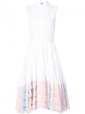 Платье-рубашка Unicorn Jourden. Цвет: белый