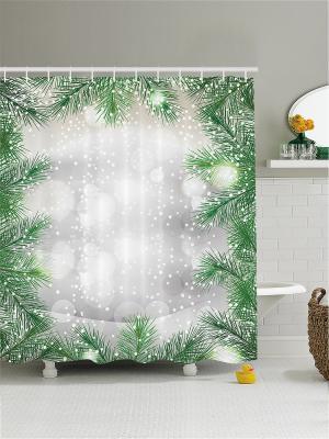 Штора для ванной Magic Lady. Цвет: черный, белый, зеленый
