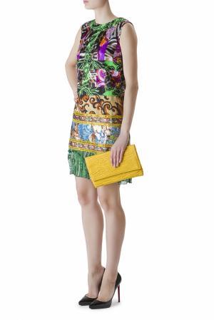 Короткое платье без рукавов с ярким принтом Duro Olowu. Цвет: multicolor