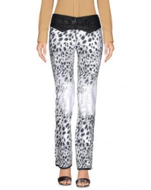 Повседневные брюки KRU. Цвет: белый