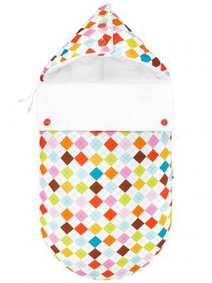 Конверт для новорождённого Гольф MIKKIMAMA. Цвет: салатовый, коричневый, голубой, красный, оранжевый, розовый, белый