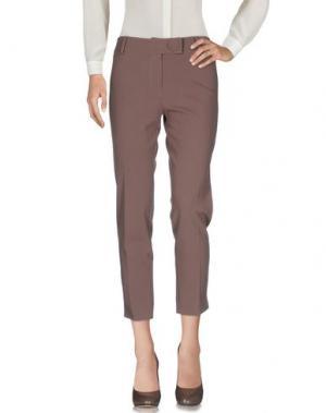 Повседневные брюки PAULIE. Цвет: какао