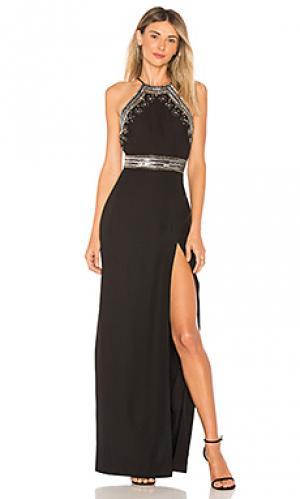Вечернее платье без рукавов с декором pippa X by NBD. Цвет: черный
