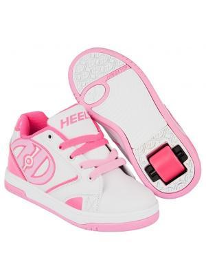 Роликовые кроссовки Heelys Propel 2.0 770605 (2). Цвет: белый, розовый