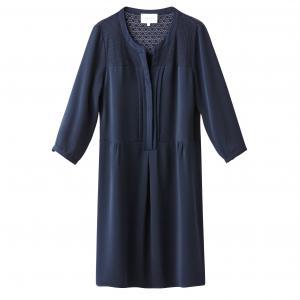 Платье с рукавами 3/4, кружевная вставка SUD EXPRESS. Цвет: темно-синий