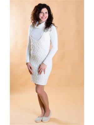 Платье для кормящих мам Белое Мирося