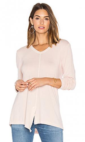 Split slouchy long sleeve tee Wilt. Цвет: румянец