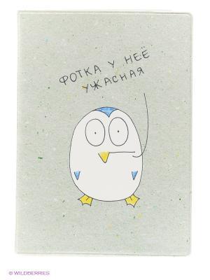 Обложка для паспорта Фотка - Пингвин Kawaii Factory. Цвет: зеленый