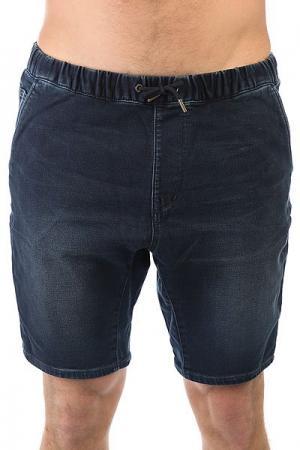 Шорты джинсовые  Fonshrblblk Blue Black Quiksilver. Цвет: синий