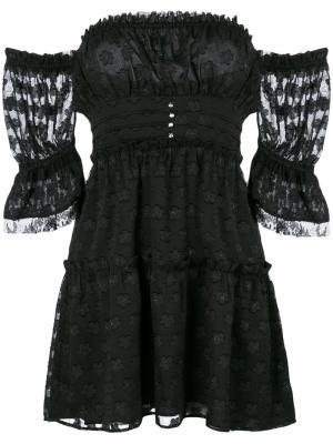 Modern Love off-shoulder dress For And Lemons. Цвет: чёрный
