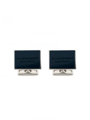 Designer classic cufflinks Burberry. Цвет: синий