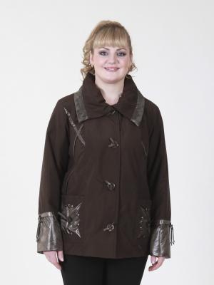 Куртка Тина VIKO. Цвет: коричневый