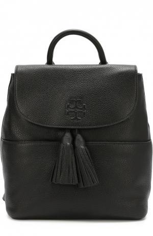 Кожаный рюкзак a Tory Burch. Цвет: черный
