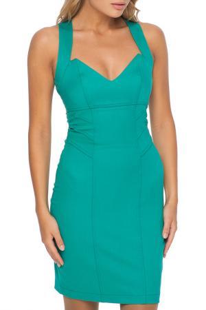 Платье Gloss. Цвет: ментолово-зеленый, черный