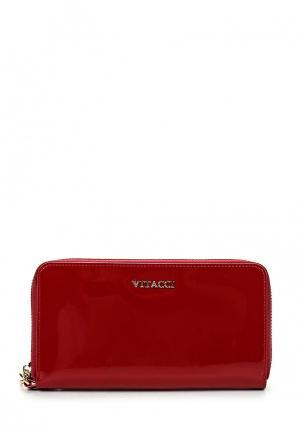Кошелек Vitacci. Цвет: красный